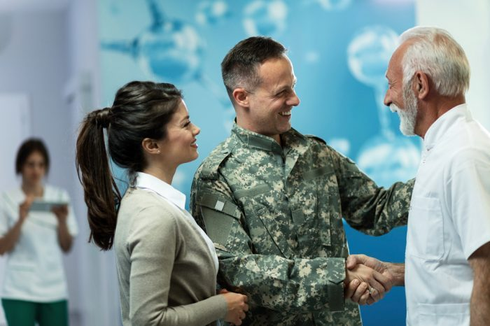people meeting with veterans