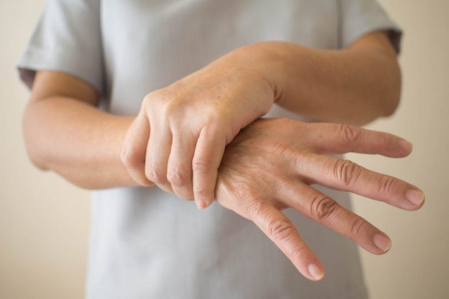 ms medications represented by pain in wrist