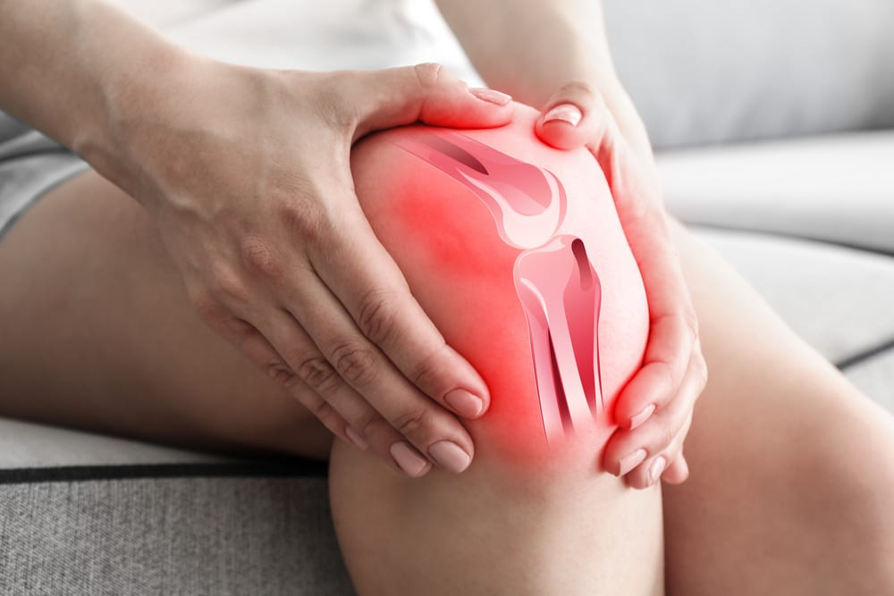 Red inflamed Knee