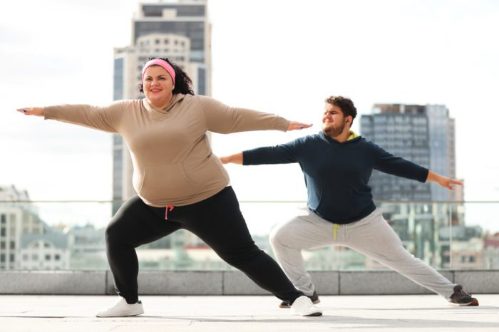 microdosing cannabis represented by couple working out