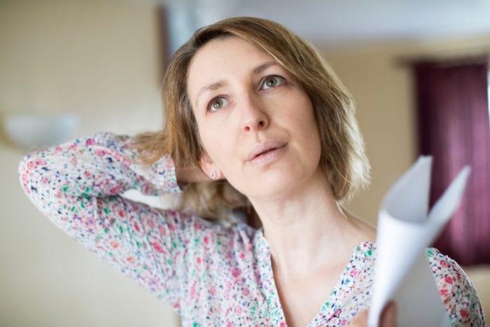 menopause woman fanning herself