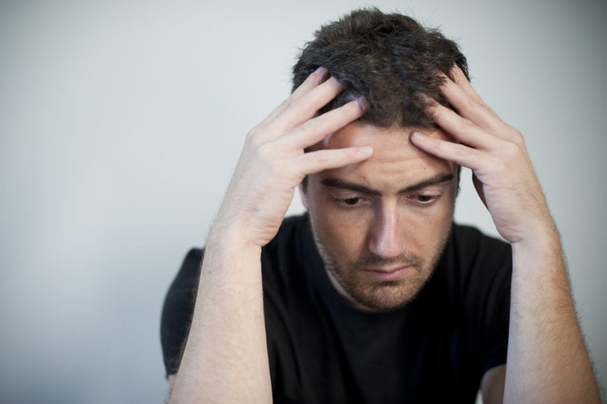 Depressed Man Close up