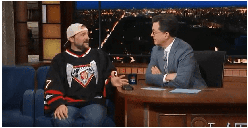 Widowmaker Survivor Kevin Smith speaks to Late Night Show host Stephen Colbert about how cannabis saved his life