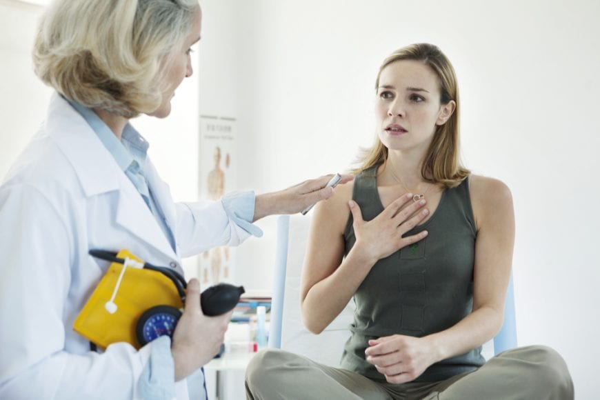 Woman with Asthma at Doctor's Office