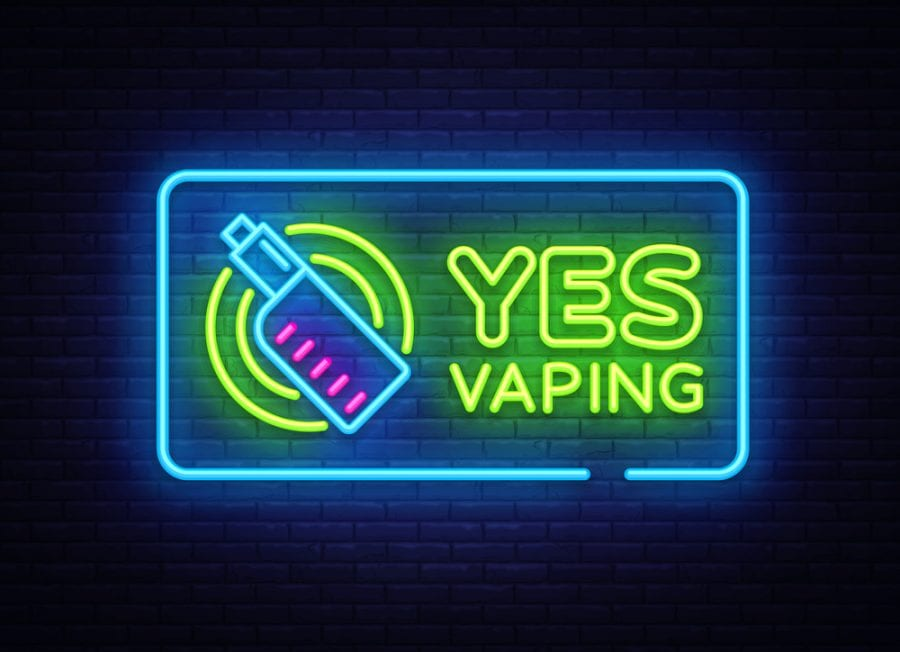 Neon Yes Vaping Sign