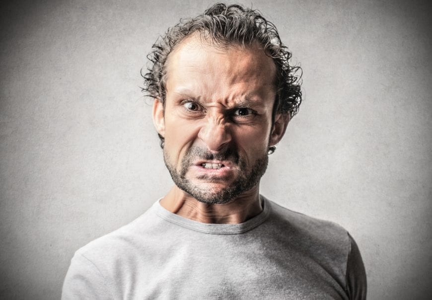 Man with Angry Face