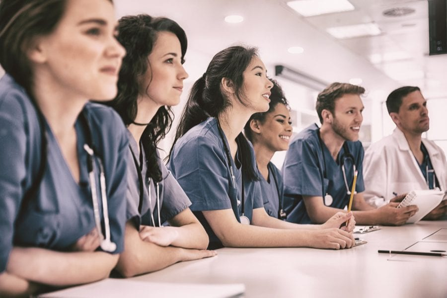 Young Doctors in Classroom