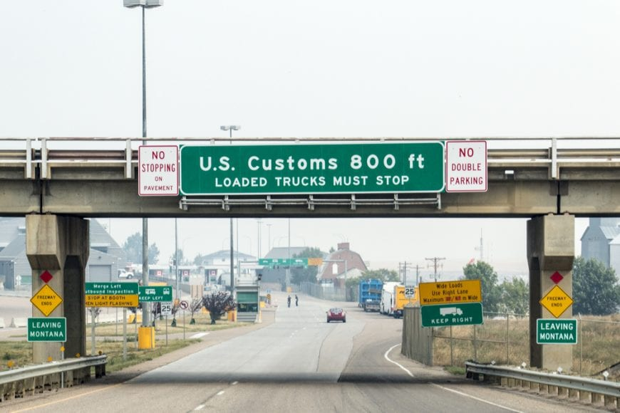 Border crossing to US