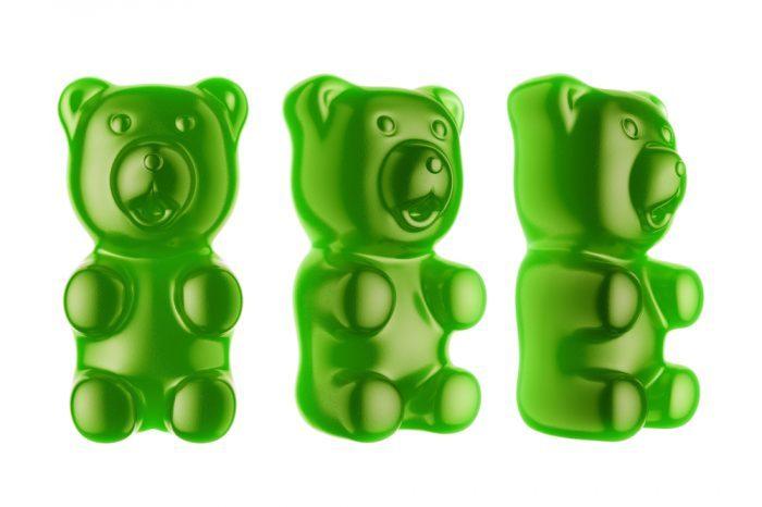 BHO green gummy bears