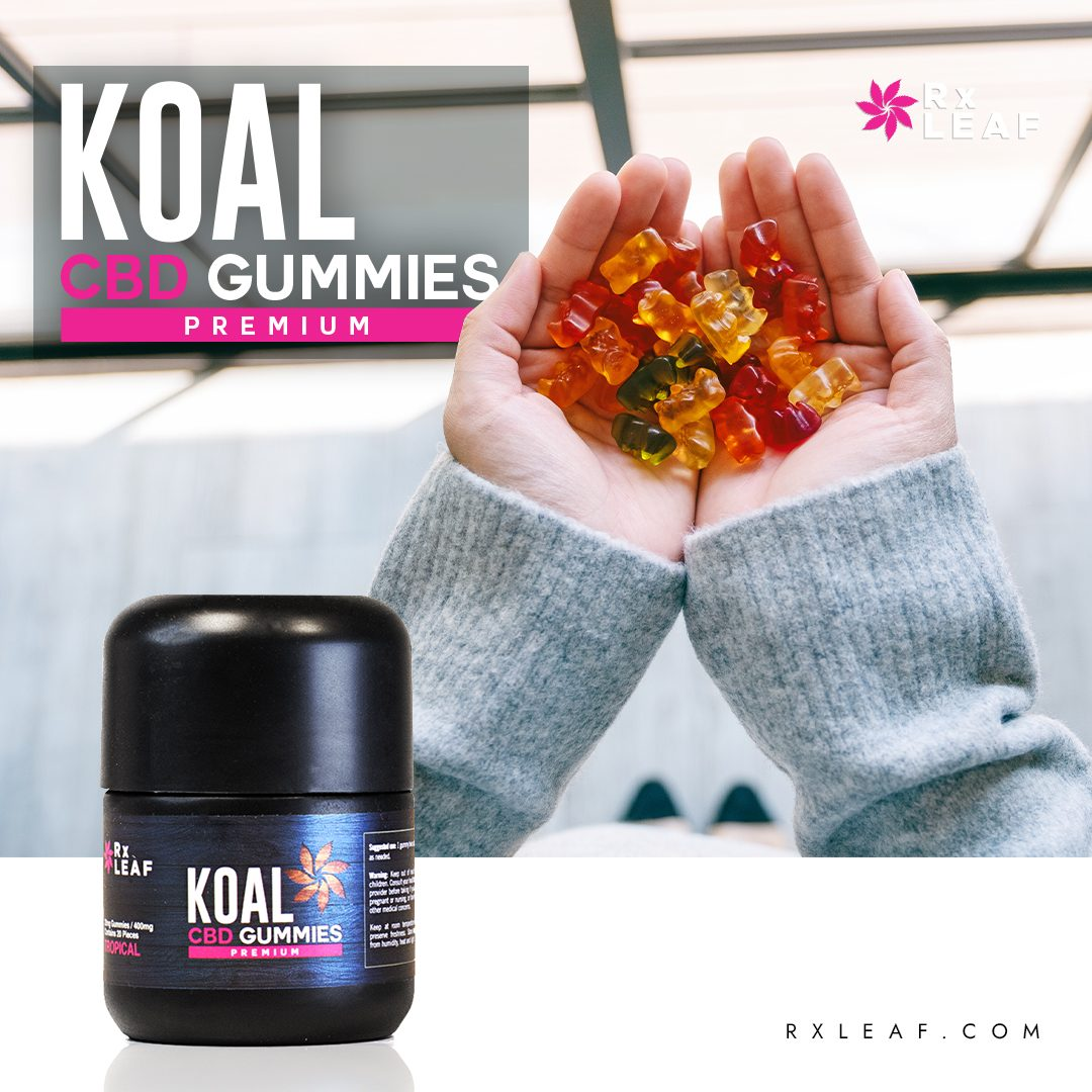 RxLeaf Gummies in girl's hands