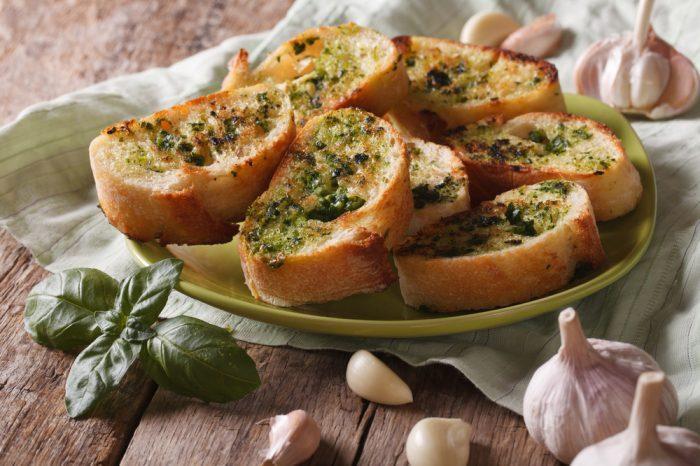 cannabutter garlic bread