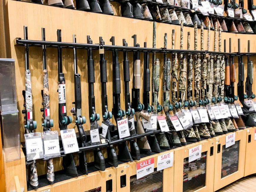 full gun rack in store
