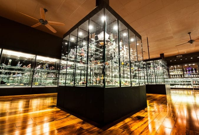 interior of Illuzion Glass Gallaries