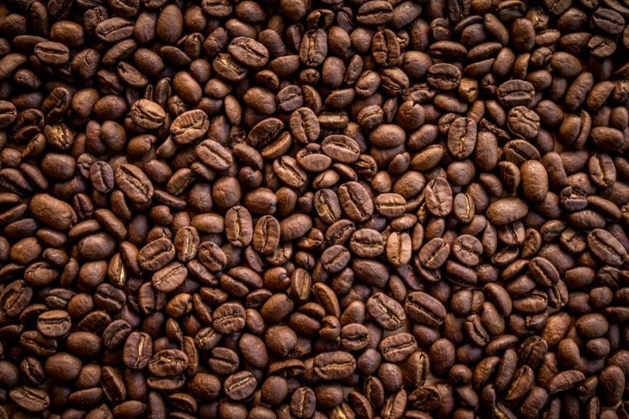 close up of a lot of coffee beans
