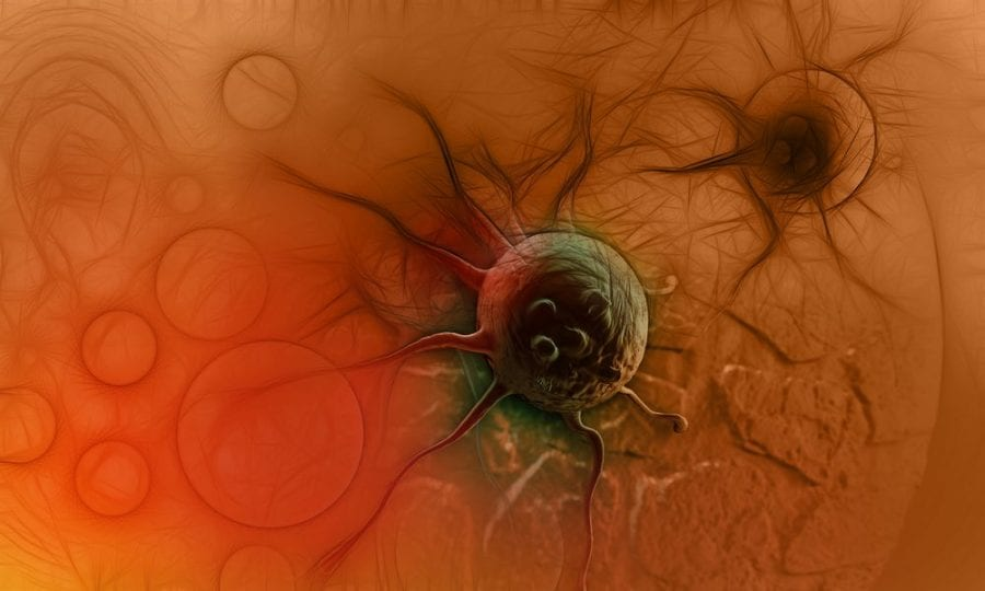 3D animation of cancer cell