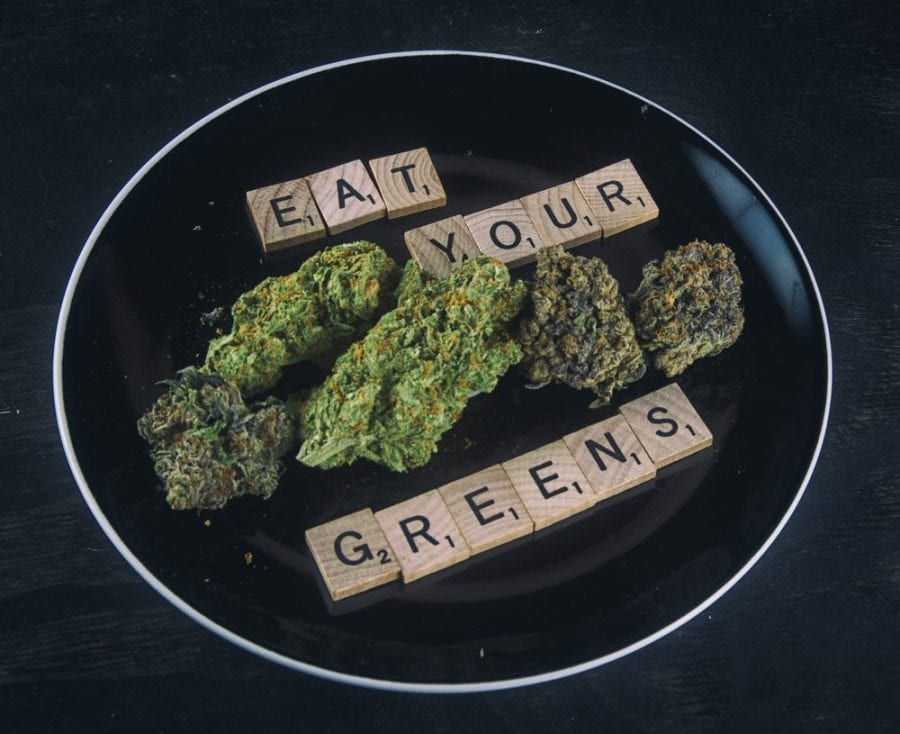 vinaigrette, cannabis, medical cannabis, salad dressing, recipe, cannabinoids, raw cannabis, cannabis buds, medicated vinaigrette, CBD, THC, cannabis salad, cannabis decarboxylation