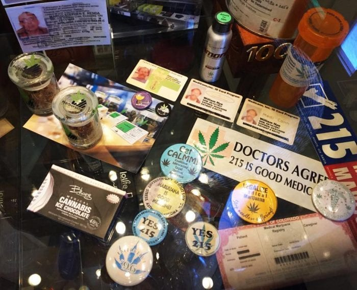 cannabis museum retro buttons