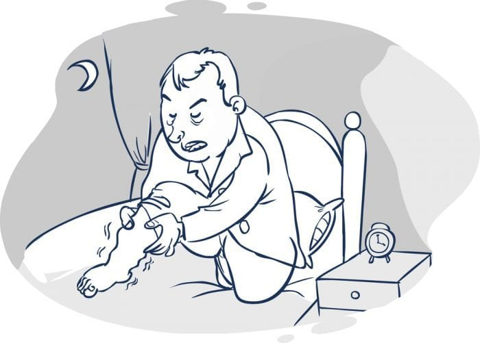 Restless Leg Syndrome Cartoon