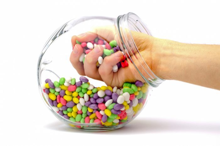 bowl of jelly beans