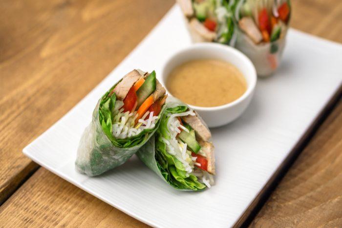 peanut sauce, spring rolls, summer rolls, medibles, edibles, cannabinoids, inflammation, cannabis extract, appetite, munchies, anxiety, CBD, THC