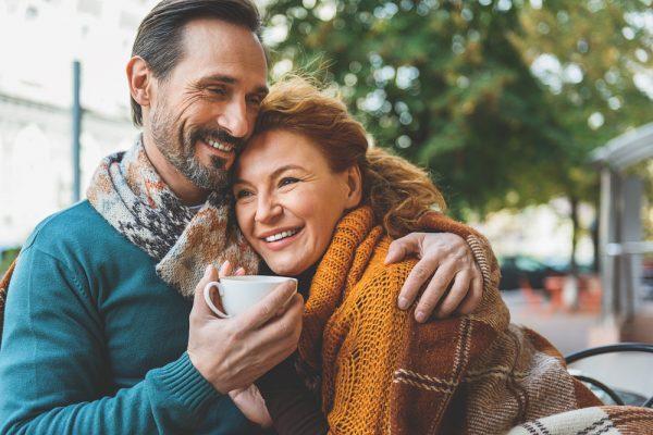 happy senior heterosexual couple
