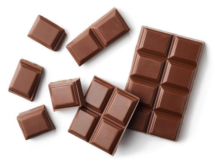 Cut up chocolate