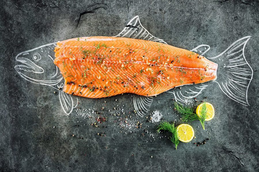 salmon, fish, cannabis, cannabis-infused fish, lemon vinaigrette, infused recipes, cannabis cooking, medibles, brain health, dementia, alzheimer's, cannabinoids