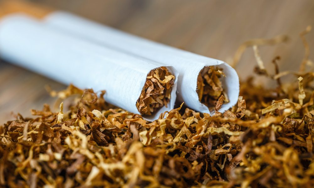 poppers represented by loose tobacco falling out of cigarettes