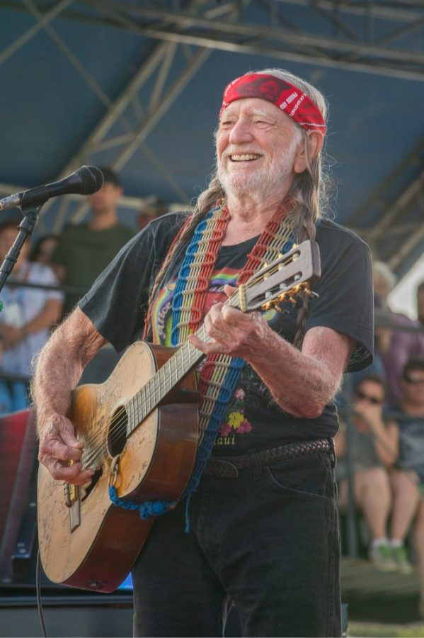 """Willie Nelson, self-styled """"chief tester"""" at his cannabis company """"Willies Reserve"""""""