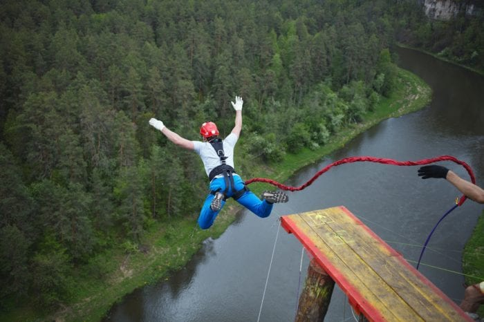overcoming fear and anxiety by bungee jumping