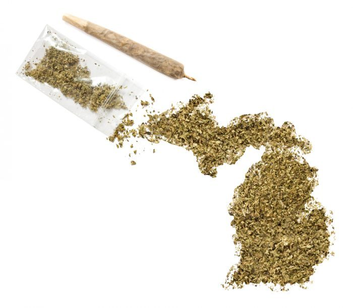 weed shaped like Michigan