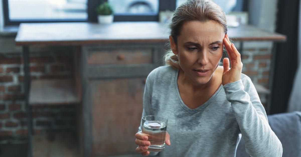 menopause woman sweating
