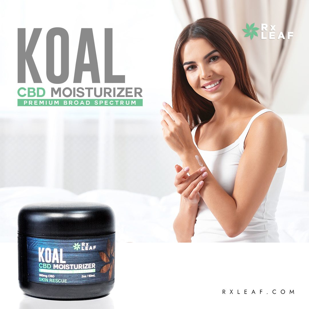Woman applying RxLeaf cream to skin