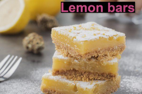 lemon bars, edibles, baking, sweets, medibles, lemon, terpenes