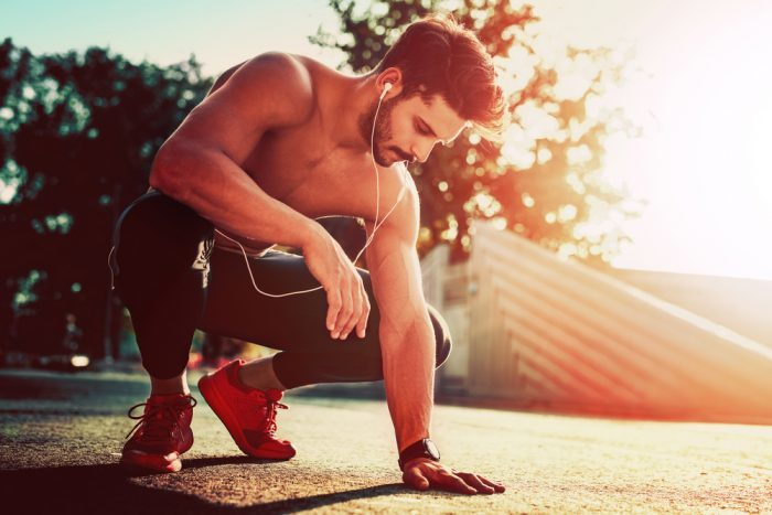 cbd isolate used by male athlete