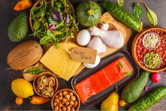 keto diet array of food