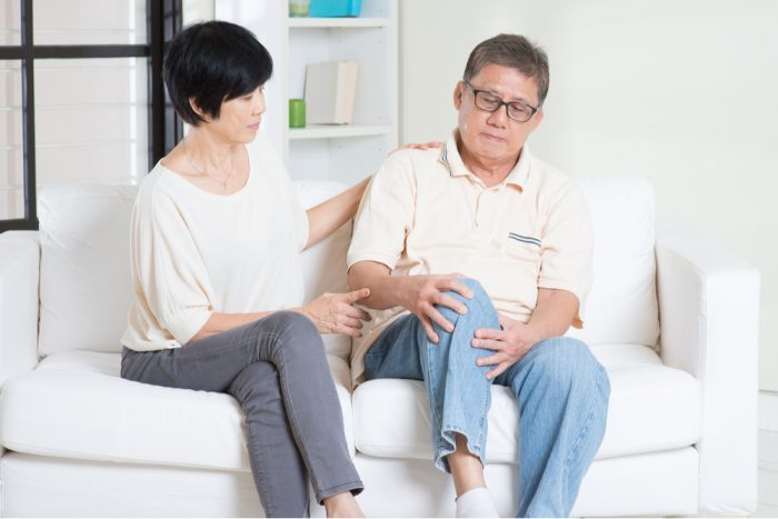 trying cannabis middle aged couple with aches and pains