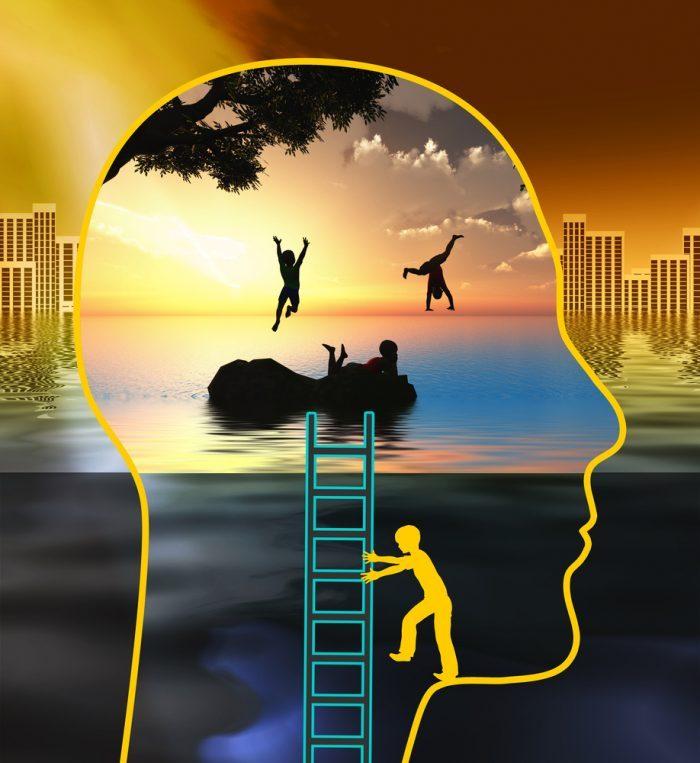 cannabis as a spiritual ally shown by cannabis on brain animation
