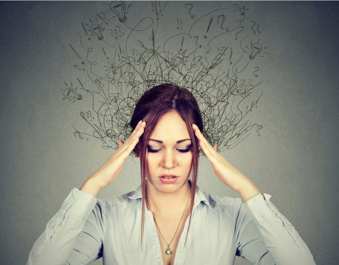 CBD for ADHD represented by woman showing confusion