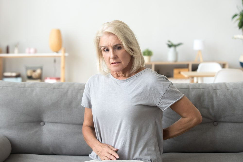 middle aged woman with back pain