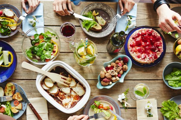 pantry basics for a nice summer meal with friends