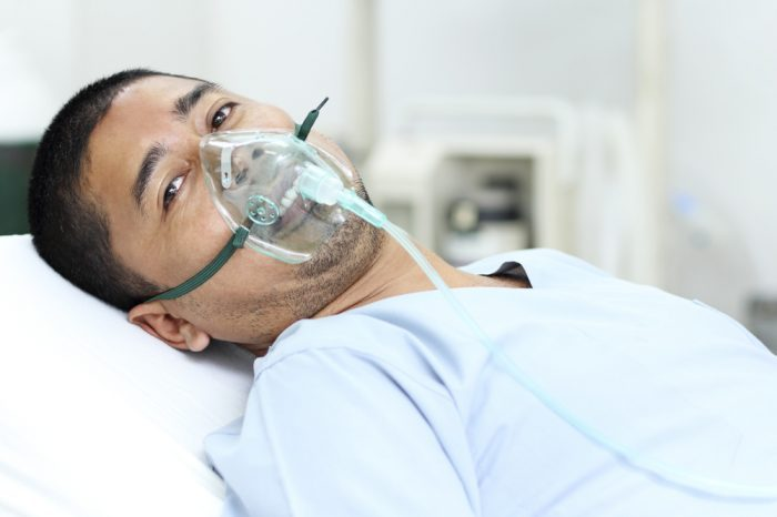 man with respiratory issues, possibly form vape oil