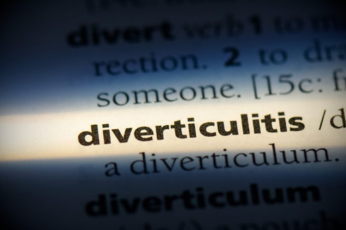 diverticulitis, which often requires surgery, in a dictionary entry