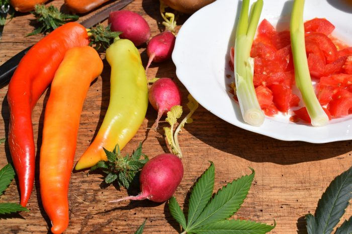 vagetables rich in flavonoids and leaf with thca
