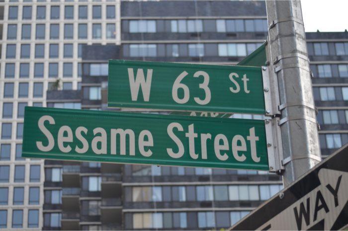 sesame street sign, NY