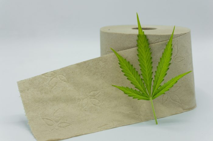 hemp toilet paper with leaf