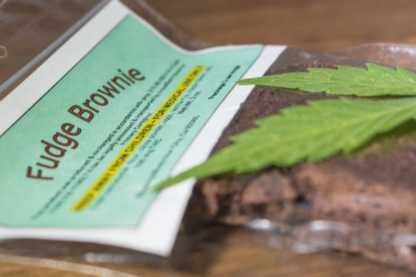 CBD Edibles fudge brownie