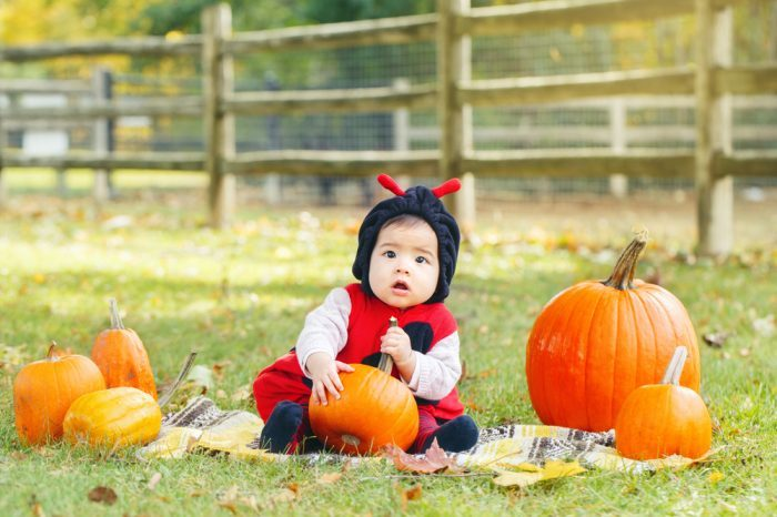 thc candy unlikely for this cute baby trick or treater