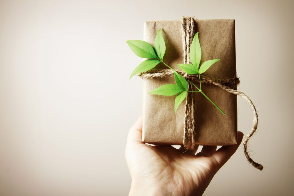 Hemp Paper wrapped gift