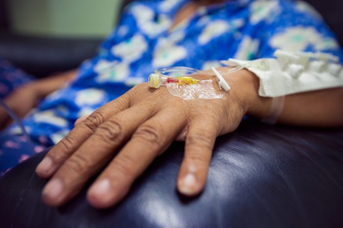 cannabis prohibition does little to help this sick person receiving chemotherapy
